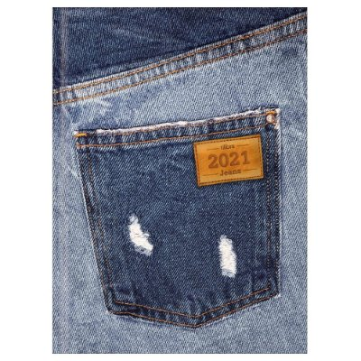 Agenda Diária Costurada Jeans 2021 - Bolso - Tilibra