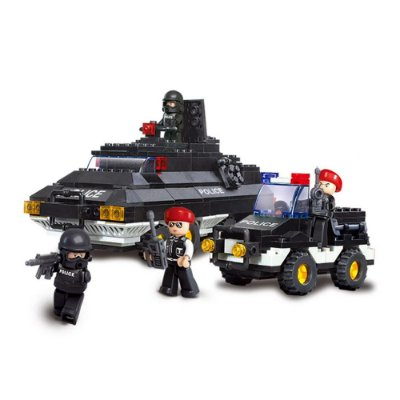 Blocos De Montar Tanque de Guerra e Carro Militar Sluban - Multikids