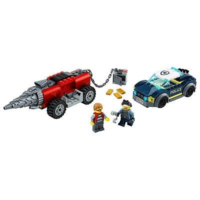 Lego City - Polícia de Elite e Perseguição de Carro Perfurador - Lego