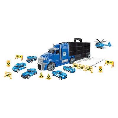 Caminhão Maleta Policia - Dm Toys