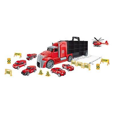 Caminhão Maleta Bombeiro - Dm Toys