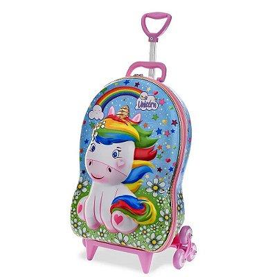 Mochila com Rodinha 3D - Cute Unicorn - Diplomata