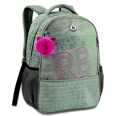 """Mochila de Costas Rebecca Bonbon 17"""" - Jeans Green - Clio Style"""