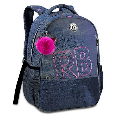 """Mochila de Costas Rebecca Bonbon 17"""" - Jeans Escuro - Clio Style"""