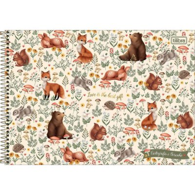 Caderno de Cartografia e Desenho Loveland - Melhor Presente - Tilibra