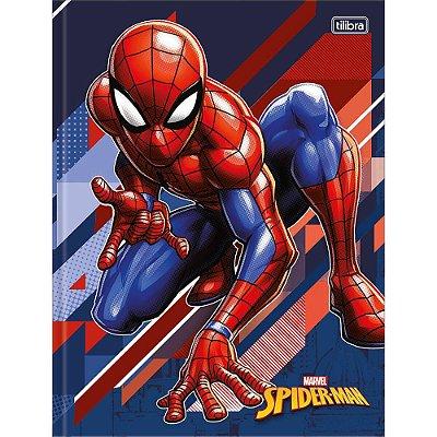 Caderno Brochura Spider Man Azul - 48 Folhas - Tilibra