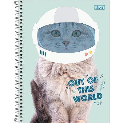 Caderno Hug Me - Gatinho Astronauta - 80 Folhas - Tilibra