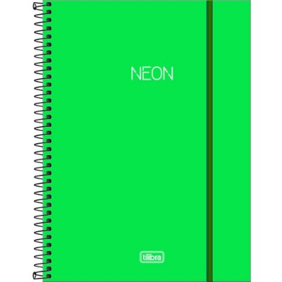 Caderno Neon - Verde - 80 Folhas - Tilibra