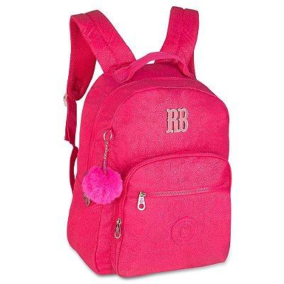 Mochila Rebecca Bonbon Glitter 17'' - Rosa - Clio Style