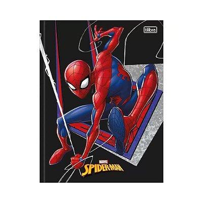 Caderno Pequeno 1/4 Brochura Homem Aranha - Preto - Tilibra