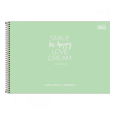 Caderno De Cartografia e Desenho Happy - Capa Verde - Tilibra