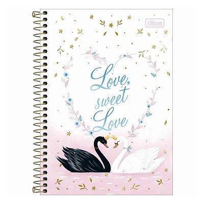 Caderno Pequeno 1/4 com Espiral - 80 Folhas - Sweet Love - Tilibra