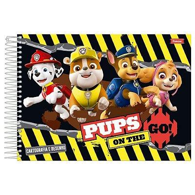 Caderno de Cartografia e Desenho - Patrulha Canina - 96 folhas - Foroni
