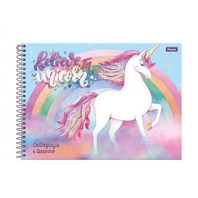 Caderno de Cartografia e Desenho Unicórnio - 96 Folhas - Foroni