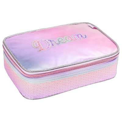 Estojo Box Académie Dream Paetê - Lilás - Tilibra
