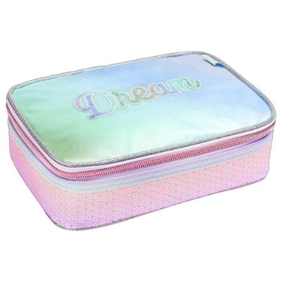 Estojo Box Académie Dream Paetê - Verde - Tilibra