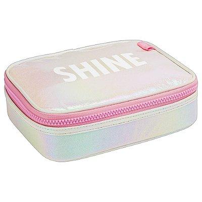 Estojo Box Académie Holográfico Shine - Tilibra