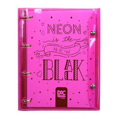 Caderno Argolado Color Bubble Neon Rosa - 10 Matérias - DAC