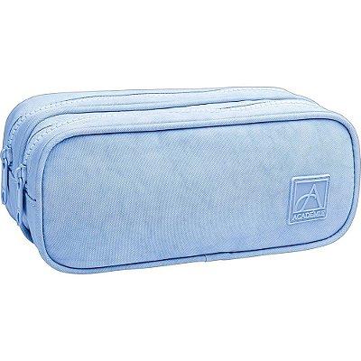 Estojo Duplo Académie Grande - Azul Pastel - Tilibra