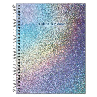 Caderno Colegial Glow - 80 Folhas - Full Of Sunshine - Tilibra