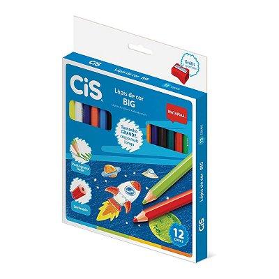 Lápis de Cor Jumbo com Apontador - 12 cores - Cis