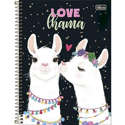 Caderno Hello Lhama Love - 80 Folhas - Tilibra