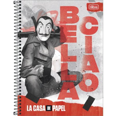 Caderno La Casa de Papel - Querida, Adeus - 80 folhas - Tilibra