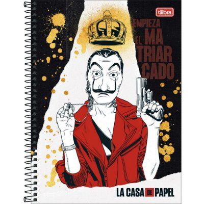 Caderno La Casa de Papel - El Matriarcado - 80 folhas - Tilibra