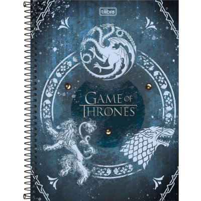 Caderno Game Of Thrones - Houses - 80 folhas - Tilibra
