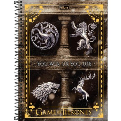 Caderno Game Of Thrones - Win or Die - 80 folhas - Tilibra
