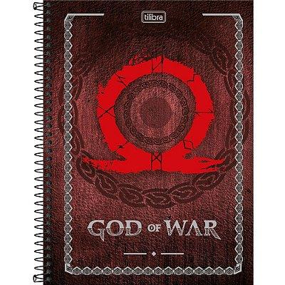 Caderno God Of War - Símbolo - 80 folhas - Tilibra