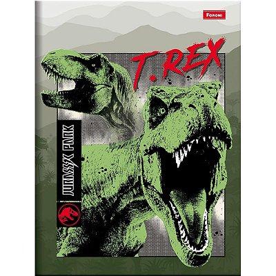 Caderno Brochura Jurassic World - T-Rex - Foroni
