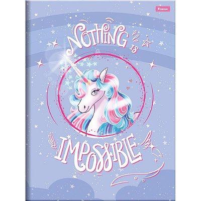 Caderno Brochura Unicórnio - Impossible - 96 Folhas - Foroni