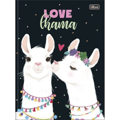 Caderno Brochura Hello Lhama Love - 80 Folhas - Tilibra
