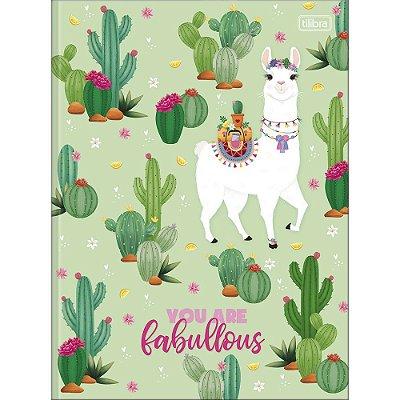 Caderno Brochura Hello Lhama Fabullous - 80 Folhas - Tilibra