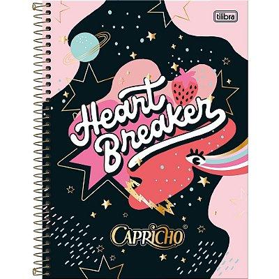 Caderno Capricho - Heart Breaker - 10 Matérias - Tilibra