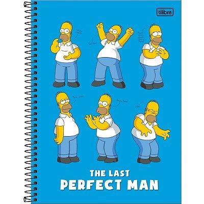 Caderno Simpsons - Homer Azul - 10 Matérias - Tilibra
