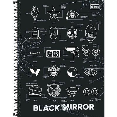 Caderno Black Mirror - Episódios - 10 Matérias - Tilibra