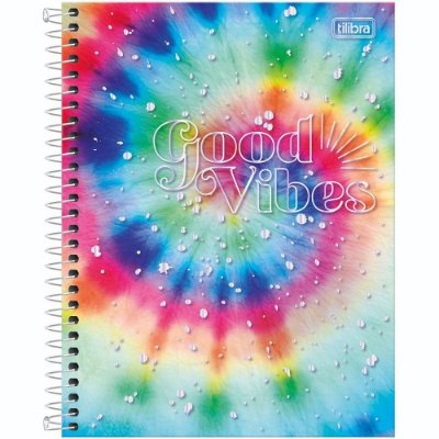 Caderno Good Vibes - Circle Colors - 10 Matérias - Tilibra