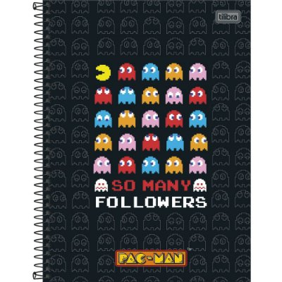 Caderno Pac Man - So Many - 10 Matérias - Tilibra