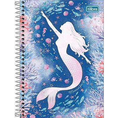 Caderno Wonder - Sereia Azul - 160 Folhas - Tilibra