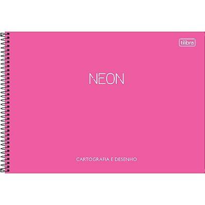 Caderno De Cartografia e Desenho Neon - Pink - Tilibra