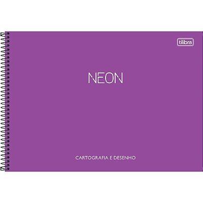 Caderno De Cartografia e Desenho Neon - Roxo - Tilibra