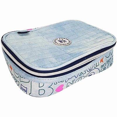 Estojo Box Jeans Rebecca Bonbon - Jeans Claro - Clio Style