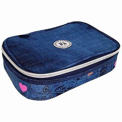 Estojo Box Jeans Rebecca Bonbon - Jeans Escuro - Clio Style