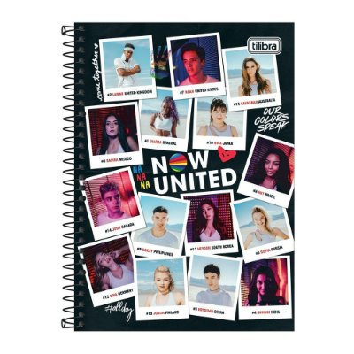 Caderno Now United 1/4 - Integrantes - 80 Folhas - Tilibra