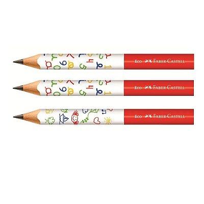 Lápis de Escrita Jumbo - 3 unidades - Faber Castell