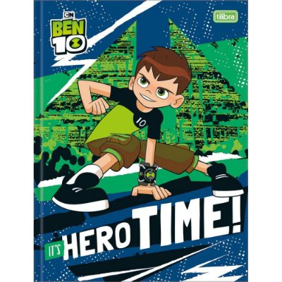 Caderno Brochura Ben 10 - It's Hero Time - 80 Folhas - Tilibra