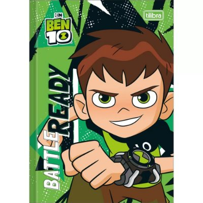 Caderno Brochura Ben 10 - Battle Ready - 80 Folhas - Tilibra
