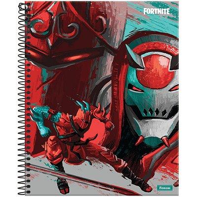 Caderno Fortnite - Ninja - 10 Matérias - Foroni